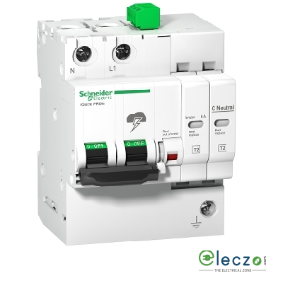 Schneider Electric Acti 9 Surge Protection Device With Inbuilt MCB 1 Pole+N