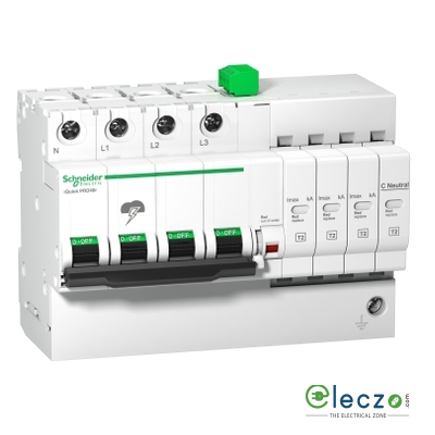 Schneider Electric Acti 9 Surge Protection Device With Inbuilt MCB 3 Pole+N
