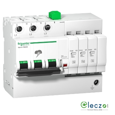 Schneider Electric Acti 9 Surge Protection Device With Inbuilt MCB 3 Pole