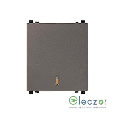 Schneider Electric ZENcelo Switch 20 A, Dark Grey, 2 Module, 1 Way