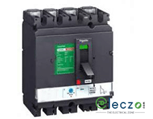 Schneider Electric Easypact CVS MCCB 25 A, 4 Pole, 25 kA, Adjustable O/L & Fixed S/C Settings, Thermal Magnetic