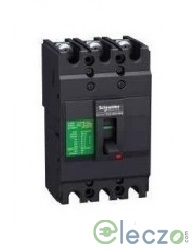 Schneider Electric Easypact EZC MCCB 125 A, 3 Pole, 36 kA, Fixed O/L & Fixed S/C Settings, Thermal Magnetic Trip Unit TMD