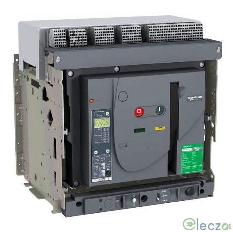 Schneider Electric Easypact MVS ACB 1250 A, 3 Pole, 50 kA, Manual Draw Out, O/L, S/C & E/F, Microprocessor Based ET6L