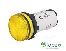 Schneider Electric Harmony XB7 Pilot Light Yellow, 230 V, Direct Integral LED