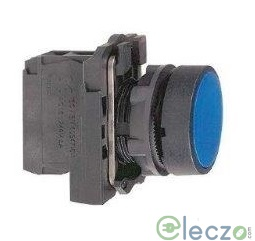 Schneider Electric Harmony XB5 Push Button Blue, Projecting Type