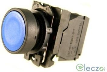Schneider Electric Harmony XB5 Push Button Blue, Flush Type