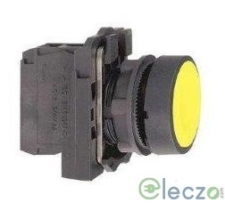 Schneider Electric Harmony XB5 Push Button Yellow, Projecting Type