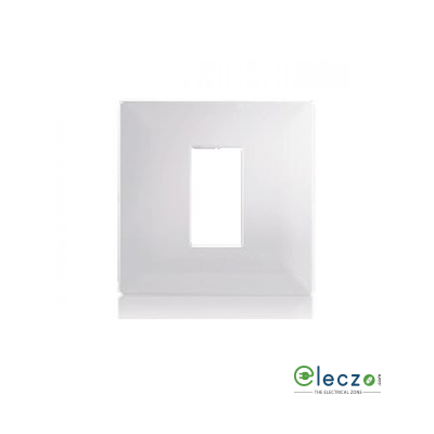 Schneider Electric Livia Cover Plate 1 Module, White, With Support Frame