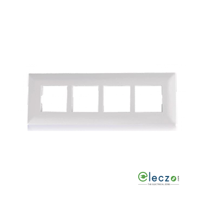 Schneider Electric Livia Cover Plate 8 Module Horizontal, White, With Support Frame