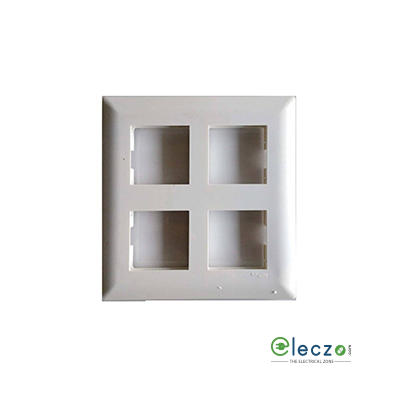 Schneider Electric Livia Cover Plate 8 Module Square, White, With Support Frame