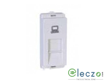 Schneider Electric Livia White Computer Outlet RJ 45 (Cat 5e), 1 Module, Single Jack With Safety Shutter
