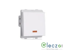 Schneider Electric Livia White DP Switch 20 A, 2 Module, 1 Way, With Indicator