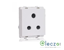 Schneider Electric Livia White 3 Pin Socket 10 A, 2 Module, With Safety Shutter