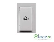 Schneider Electric Livia Switch 10 A, White, 1 Module, Bell Push