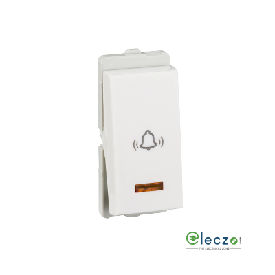 Schneider Electric Livia Switch 10 A, White, 1 Module, Bell Push, With Indicator