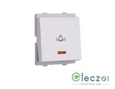 Schneider Electric Livia White Bell Push Switch 10 A, 2 Module, With Indicator