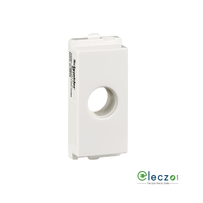 Schneider Electric Opale Gripped Cord Outlet White, 1 Module