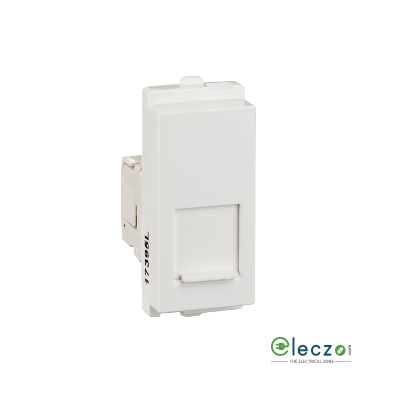 Schneider Electric Opale Telephone Data Outlet With Shutter 1 Module, White, RJ 45