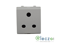 Schneider Electric Opale 2 Or 3 Pin Socket Outlet With Shutter 6 A, 2 Module, White