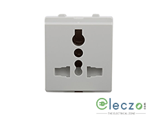 Schneider Electric Opale Multi Pin Socket Outlet With Shutter 13 A, 2 Module, White