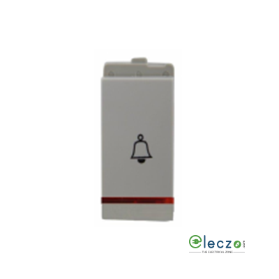 Schneider Electric Opale Coke Grey Bell Push Switch 6 A, 1 Module, With Indicator