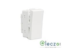 Schneider Electric Opale Switch 6 A, White, 1 Module, 1 Way