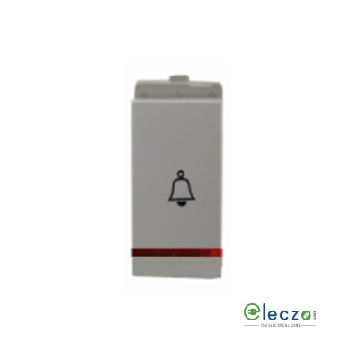Schneider Electric Opale White Bell Push Switch 6 A, 1 Module, With Indicator