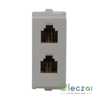 Schneider Electric Opale Coke Grey Telephone Outlet RJ 11, 1 Module, Double Jack