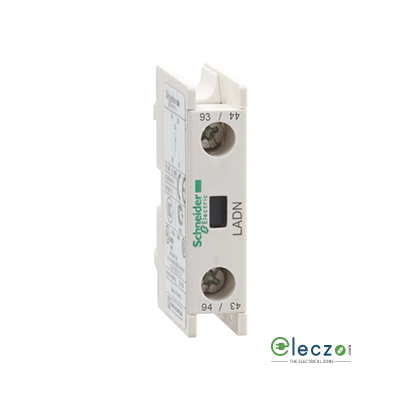 Schneider Electric TeSys Additional Instantaneous Auxiliary Contact Block, 1 NO, Suitable For TeSys D LC1D80 - LC1D95 & LC1F Contactor, Front Mounting