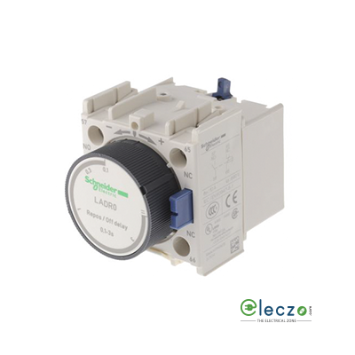 Schneider Electric TeSys Pneumatic Timer Block, Off Delay, 1 NO + 1 NC, 0.1 to 3 Sec, Front Mounted, Suitable For Tesys D & Tesys F Model Contactor, Front Mounting