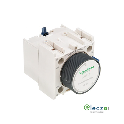 Schneider Electric TeSys Pneumatic Timer Block, Off Delay, 1 NO + 1 NC, 0.1 to 30 Sec, Front Mounted, Suitable For Tesys D & Tesys F Model Contactor