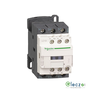 Schneider Electric Tesys Power Contactor - D Model 12 A, 3 Pole, 240 V AC, 1 NO + 1 NC, AC3 Duty