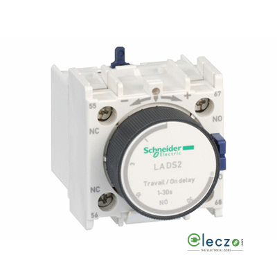Schneider Electric TeSys Pneumatic Timer Block, On Delay, 1 NO + 1 NC, 1 to 30 Sec, Front Mounted, Suitable For Tesys D & Tesys F Model Contactor