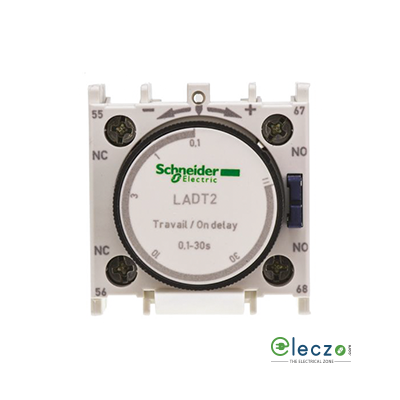 Schneider Electric TeSys Pneumatic Timer Block, On Delay, 1 NO + 1 NC, 0.1 to 30 Sec, Front Mounted, Suitable For Tesys D & Tesys F Model Contactor