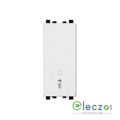 Schneider Electric ZENcelo Switch 6 A, White, 1 Module, Bell Push