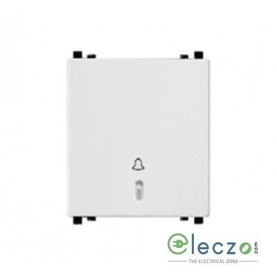 Schneider Electric ZENcelo Switch 6 A, White, 2 Module, Bell Push