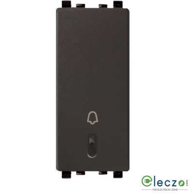 Schneider Electric ZENcelo Switch 6 A, Dark Grey, 1 Module, Bell Push