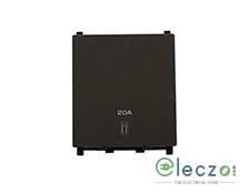 Schneider Electric ZENcelo DP Switch 20 A, Dark Grey, 2 Module, With Indicator