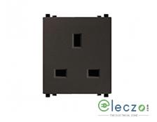 Schneider Electric ZENcelo Flat Pin Socket With Shutter 13 A, 2 Module, Dark Grey