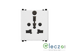 Schneider Electric ZENcelo International Socket With Shutter 2 Module, White