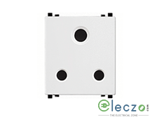 Schneider Electric ZENcelo 3 Pin Socket With Shutter 20 A, 2 Module, White