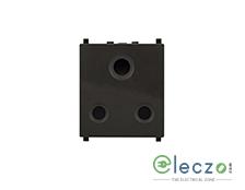 Schneider Electric ZENcelo 3 Pin Socket With Shutter 20 A, 2 Module, Dark Grey