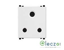 Schneider Electric ZENcelo 3 Pin Socket With Shutter 25 A, 2 Module, White