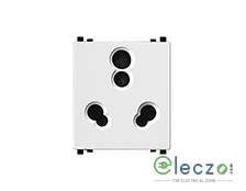 Schneider Electric ZENcelo 3 Pin Socket With Shutter 6/16 A, 2 Module, White