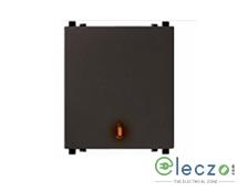 Schneider Electric ZENcelo Switch 6 A, Dark Grey, 2 Module, 1 Way