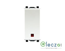 Schneider Electric ZENcelo Switch 6 A, White, 1 Module, 1 Way, With Indicator