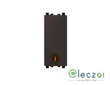 Schneider Electric ZENcelo Switch 6 A, Dark Grey, 1 Module, 1 Way, With Indicator