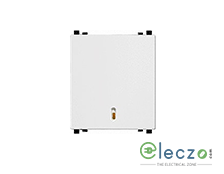 Schneider Electric ZENcelo Switch 6 A, White, 2 Module, Bell Push, With Indicator