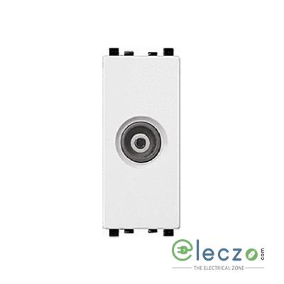 Schneider Electric ZENcelo TV Socket 1 Module, White