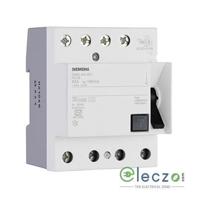 Siemens Betagard 5SM3 RCCB 125 A, 4 Pole, 300 mA, Type AC